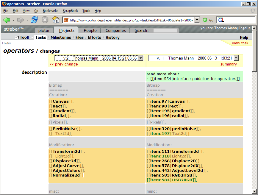 Streber Pm A Web Based Free Open Source Project Management Tool With Php 5 Mysql